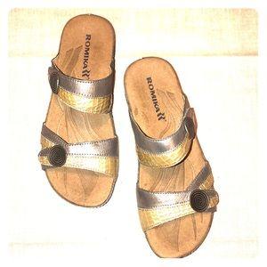 Romika Fedschi 22 Adjustable Hook Loop Sandals 37